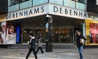 """Bankrutuoja didžiosios JK prekybininkės """"Debenhams"""" ir """"Arcadia"""""""