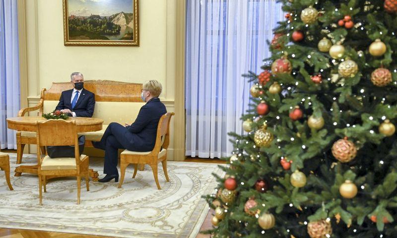 Prezidentas Gitanas Nausėda susitinka su paskirtąja premjere Ingrida Šimonyte. Roberto Dačkaus (Prezidento kanceliarija) nuotr.