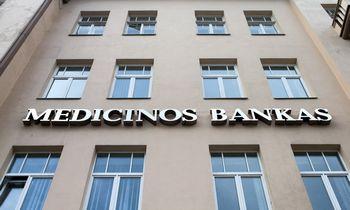 Medicinos bankas grynąjį pelną per tris šių metų ketvirčius padidino 22 proc. iki 3,1 mln. eurų