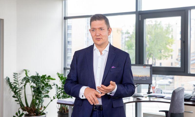 """Audrius Rosinas, UADBB """"Kreditų draudimo brokeris"""" generalinis direktorius. Juditos Grigelytės (VŽ) nuotr."""