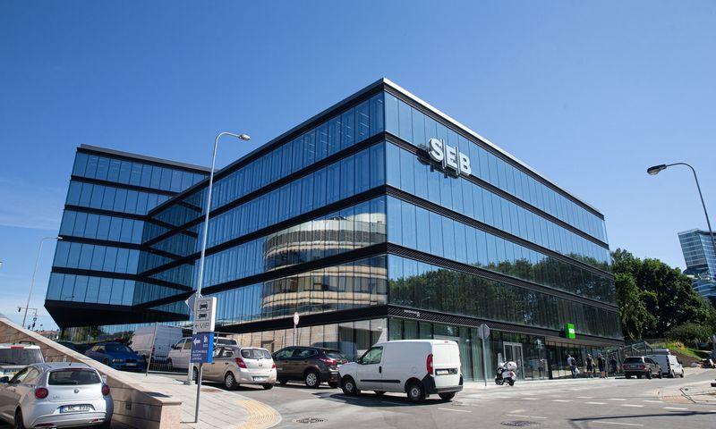 """""""SEB"""" banko pastatas Vilniuje, Konstitucijos pr.24. Juditos Grigelytės (VŽ) nuotr."""
