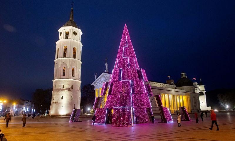 Kalėdinė eglutė Vilniaus Katedros a. Juditos Grigelytės (VŽ) nuotr.