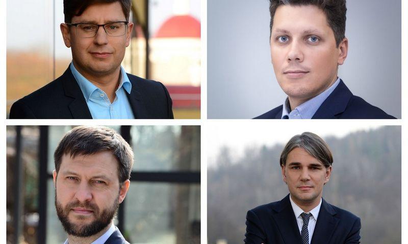 Naujieji WINT partneriai (iš kairės į dešinę): Dainius Daugirda, Karolis Vinciūnas Saulius Urbonavičius ir asocijuotasis partneris Tomas Kajackas. VŽ koliažas.