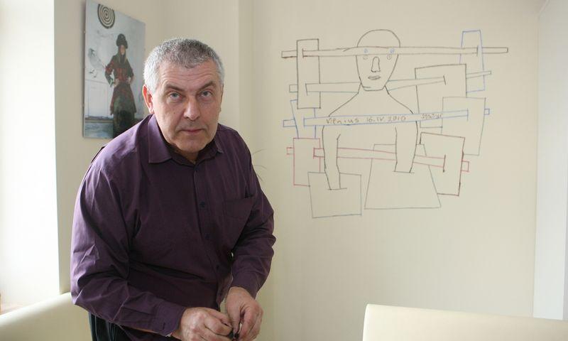 """Nacionalinės premijos laureatas, grafikas Stasys Eidrigevičius. Juliaus Kalinsko (""""15min"""" / """"Scanpix"""") nuotr."""
