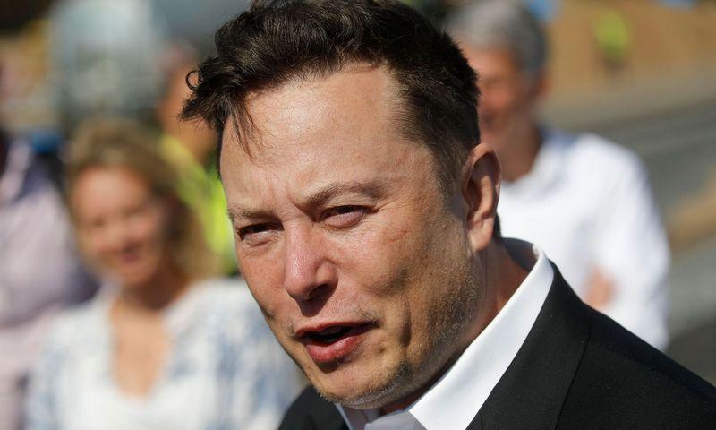 """Elonas Muskas, """"Tesla"""" CEO.  Oddo Anderseno (AFP / """"Scanpix"""") nuotr."""
