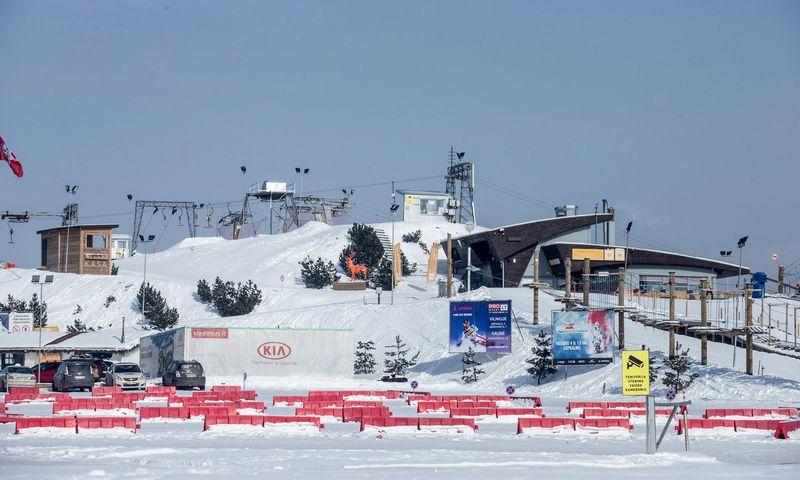 Liepkalnio slidinėjimo trasa. Juditos Grigelytės (VŽ) nuotr.