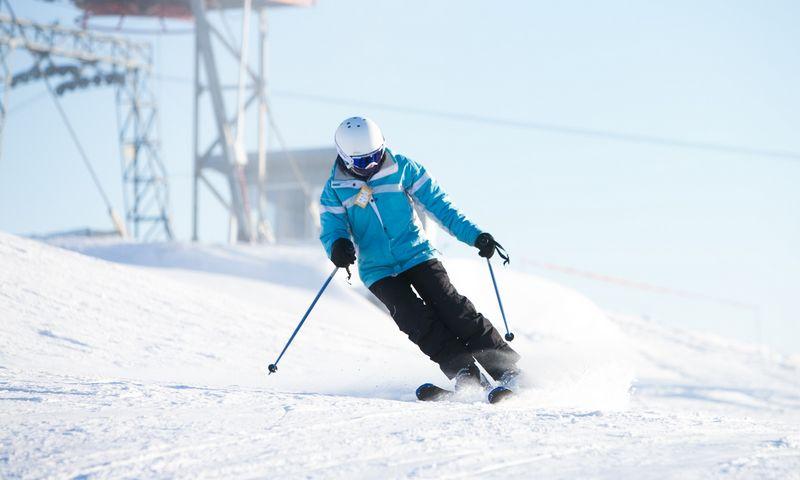 Liepkalnio žiemos slidinėjimo trasa Vilniuje. Juditos Grigelytės (VŽ) nuotr.
