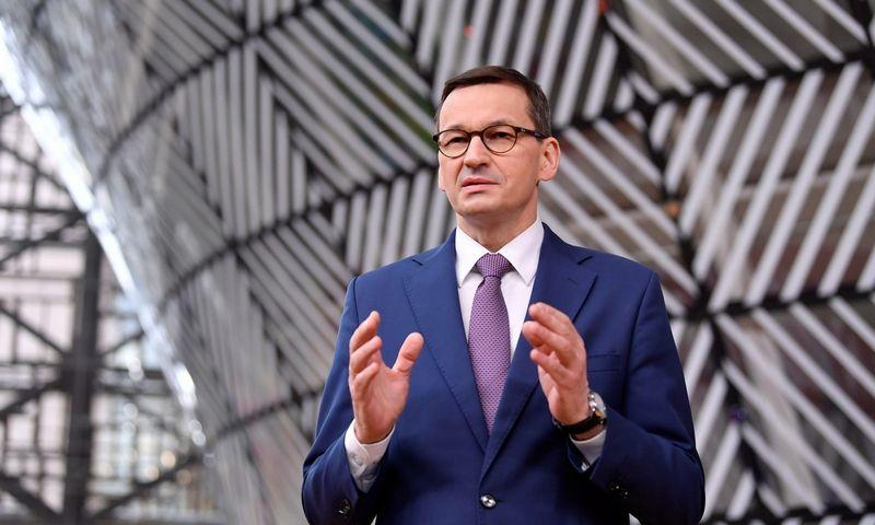 "Mateuszas Morawieckis, Lenkijos premjeras. John Thys (""Scanpix""/""Reuters"") nuotr."