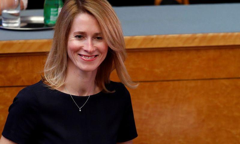 "Kaja Kallas, kandidatė tapti Estijos premjere. Ints Kalnins (""Reuters"" / ""Scanpix"") nuotr."