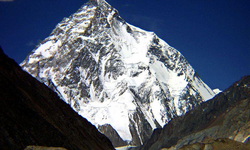 """K2 viršukalnė Himalajų kalnų grandinėje vadinama pavojingiausia pasaulyje. AFP / """"Scanpix"""" nuotr."""