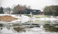 Naujo tilto statybos kelia nerimą dėl galimo potvynio Kauno rajone