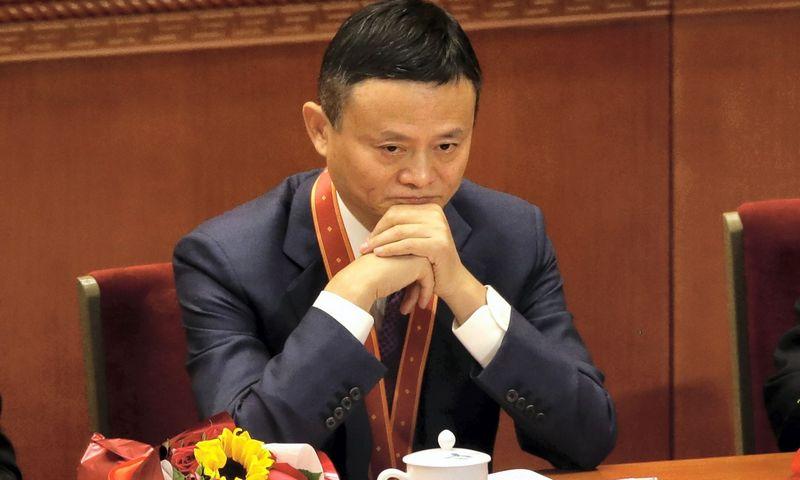 """Jack Ma. Marko Schiefelbeino (""""Scanpix"""" / """"AP Photo"""") nuotr."""