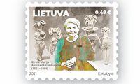 Išleidžiamas pašto ženklas archeologei B. M. Alseikaitei-Gimbutienei atminti