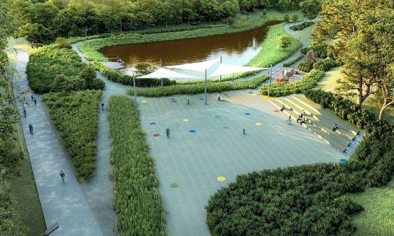 Talpyklos pagrindinė funkcija bus sukaupti lietaus vandenį ir pamažu jį išleisti, tačiau čia planuojama sutvarkyti aplinką, išplėtoti pėsčiųjų ir dviračių takų infrastruktūrą, įrengti vaikų žaidimo aikštelių, suoliukų.
