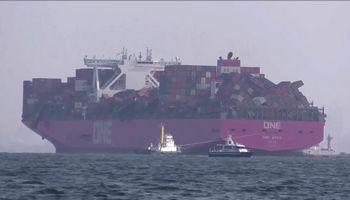 Perkrautiems laivams barstant konteinerius, siūloma riboti jų krovą
