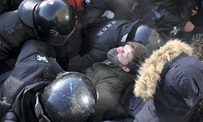"Protesto Omske, Rusija, vaizdai. Alexey Malgavko (""Reuters"" / ""Scanpix"") nuotr."