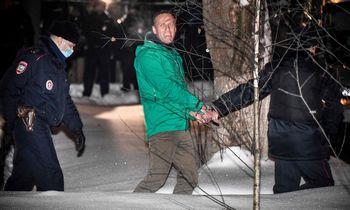 Protestai dėl A. Navalno sulaikymo – ne milžiniški, bet ilgalaikiai