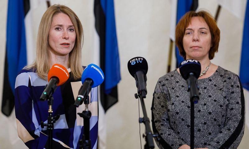 """Kaja Kallas (kairėje), būsima Estijos premjerė. Andras Kralla (""""Scanpix"""") nuotr."""