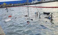 Klaipėdos uoste nuskendo žemkasė