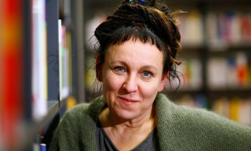 "Nobelio literatūros premijos laureatė Olga Tokarczuk. Thilo Schmuelgen (""Reuters"" / ""Scanpix"") nuotr."