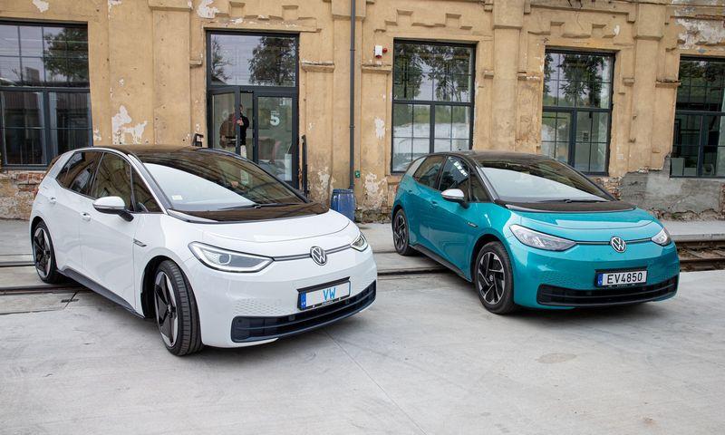 """""""Volkswagen"""" pernai vyravo Lietuvos elektromobilių rinkoje. Juditos Grigelytės (VŽ) nuotr."""