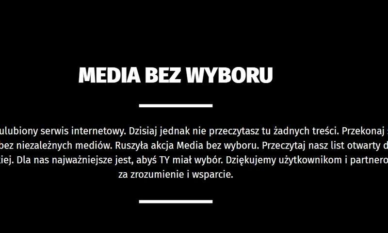Lenkijos žiniasklaidos puslapiai šiandien.