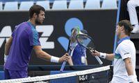Melburne naujas karantinas,teniso turnyras tęsiamas be žiūrovų