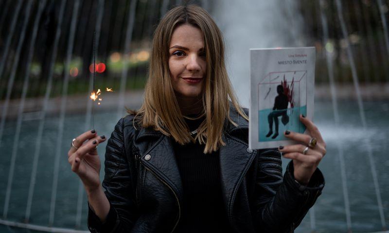 """Jurgos Ivanauskaitės premijos laureatė Lina Simutytė. Dalios Mikonytės / """"Tyto alba"""" nuotr."""