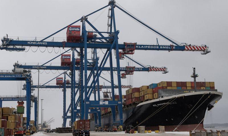 Klaipėdos uostas metus pradėjo dviženkliu krovos augimu. Algimanto Kalvaičio nuotr.