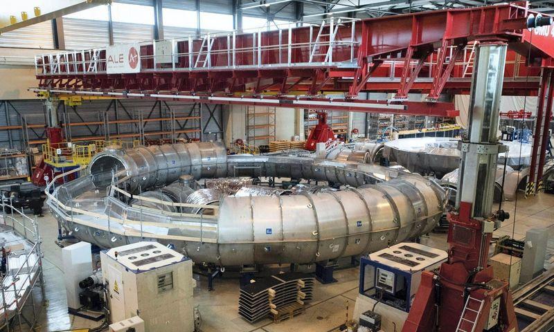 "ITER reaktoriaus komponentai. Clemento Mahoudeau (""Scanpix"" / AFP) nuotr."