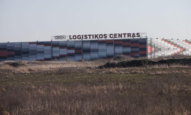 """""""Kesko Senukų""""  logistikos centro centras Žemaitkiemyje, Kauno raone. Juditos Grigelytės (VŽ) nuotr."""