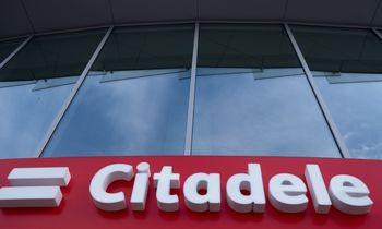 """""""Citadele"""" grynasis pelnas 2020 m. smuko 10 kartų"""