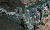 Pompėjuose rastas iškilmingoms ceremonijoms naudotas vežimas