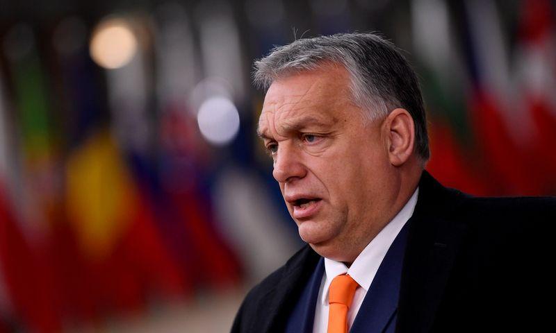 """Viktoras Orbanas, Vengrijos premjeras. Johno Thyso (""""Reuters"""" / """"Scanpix"""") nuotr."""