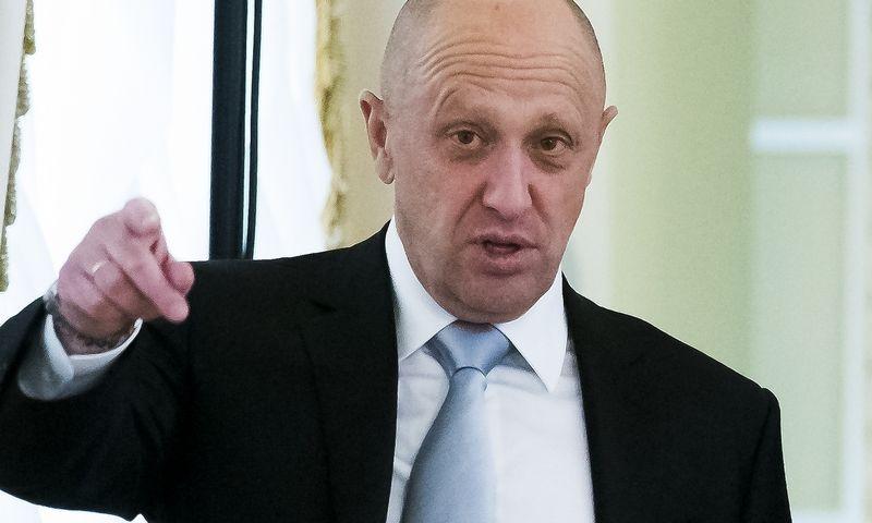 "Jevgenijus Prigožinas. Alexanderio Zemlianichenko (AP / ""Scanpix"") nuotr."
