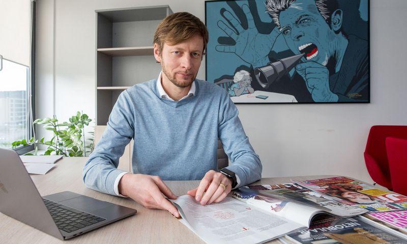 """Tomas Balžekas, UAB """"Media bitės"""" generaliis direktorius. Juditos Grigelytės (VŽ) nuotr."""