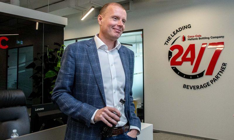 """Jaakas Mikkelis, """"Coca-Cola HBC"""" Lenkijos ir Baltijos šalių padalinio vadovas. Juditos Grigelytės (VŽ) nuotr."""
