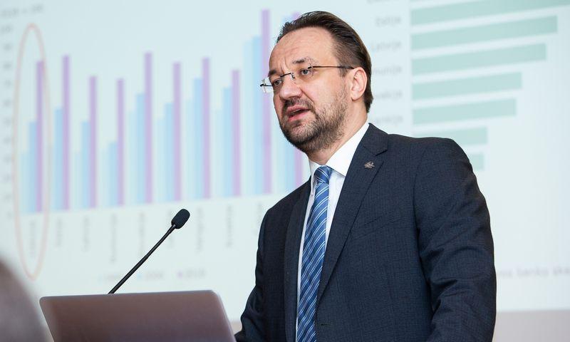 Kandidatas į LB vadovus Gediminas Šimkus. Vladimiro Ivanovo (VŽ) nuotr.