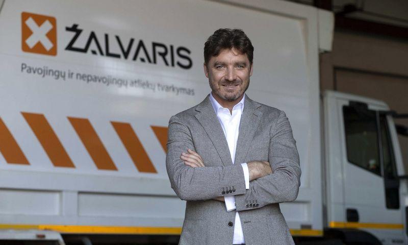Didžiausios Lietuvoje pavojingųjų ir nepavojingųjų atliekų tvarkymo bendrovės Žalvaris direktorius VitoldasSapožnikovas.