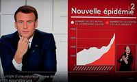 Prancūzijoje skelbiamastrečias karantinas, ribojimai galios visoje šalyje