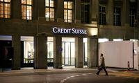 "Patyręs 3,97 mlrd. Eur nuostolį, ""Credit Suisse"" keičia duvadovus"