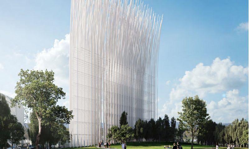 """""""Inovacijų vėjas"""", """"SMAR Architecture studio"""". """"Urban Confluence Silicon Valley"""" vizualizacija."""