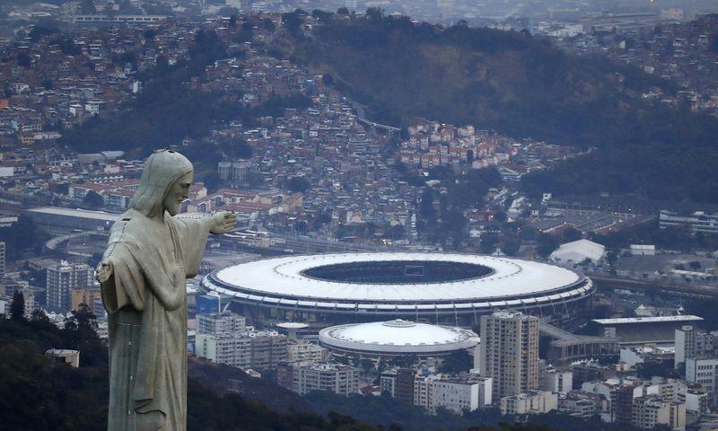 "Kristaus Atpirkėjo statula. Rio de Žaneire. ""Reuters"" / ""Scanpix"" nuotr."