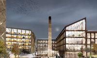 """Plytiniai Vilniaus """"Cyber City"""" pastatų fasadai - pirmieji Lietuvoje pagaminti gamykloje"""