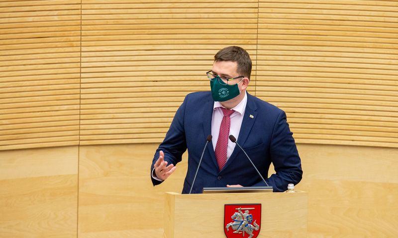 Laurynas Kasčiūnas, Nacionalinio saugumo ir gynybos komiteto (NSGK) vadovas. Juditos Grigelytės (VŽ) nuotr.
