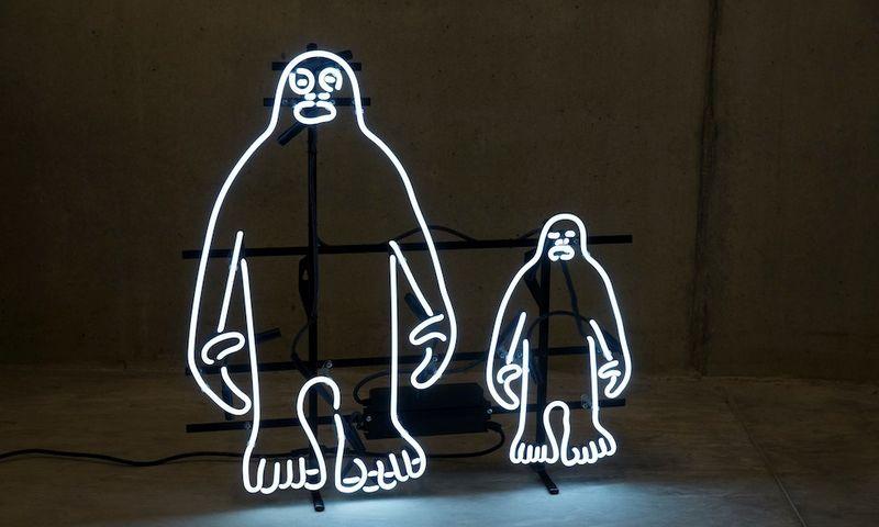 """Tomo Daukšos """"The Bigfoot Project"""" šiuolaikinio meno mugėje """"Art Dubai"""". Jurgitos Juospaitytės-Bitinienės nuotr."""