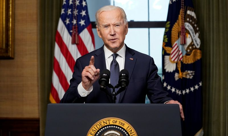 "JAV prezidentas Joe Bidenas. Andrew Harnik (""Reuters""/""Scanpix"") nuotr."