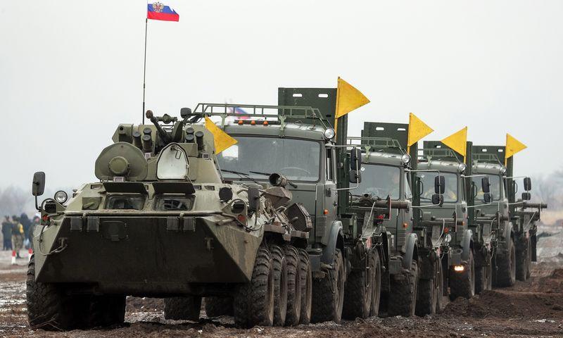 """Kijevo vertinimu, Rusija Ukrainos pasienyje sutelkė 110.000 karių. Eriko Romanenko (TASS / """"Scanpix"""") nuotr."""