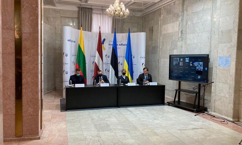 Baltijos šalių ir Ukrainos UR ministrų susitikimas. Lietuvos URM nuotr.