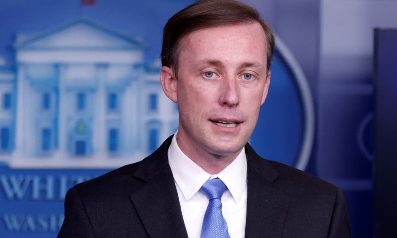 """Jake'as Sullivanas, JAV prezidento Joe Bideno nacionalinio saugumo patarėjas. Tomo Brennerio (""""Reuters"""" / """"Scanpix"""") nuotr."""